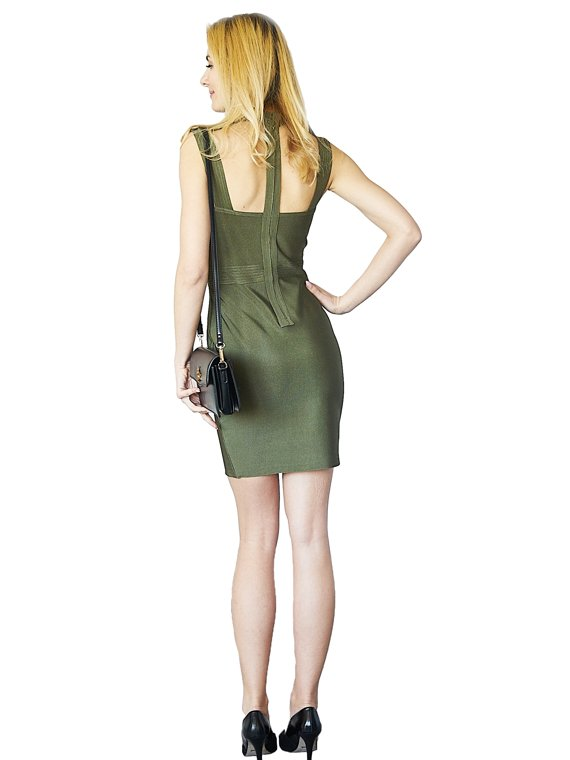 Dress Amy khaki