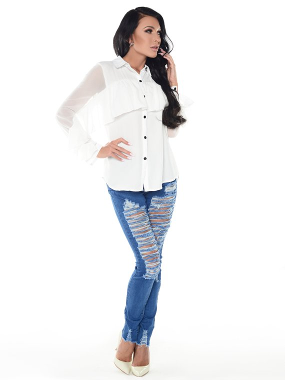 Shirt Lilla white